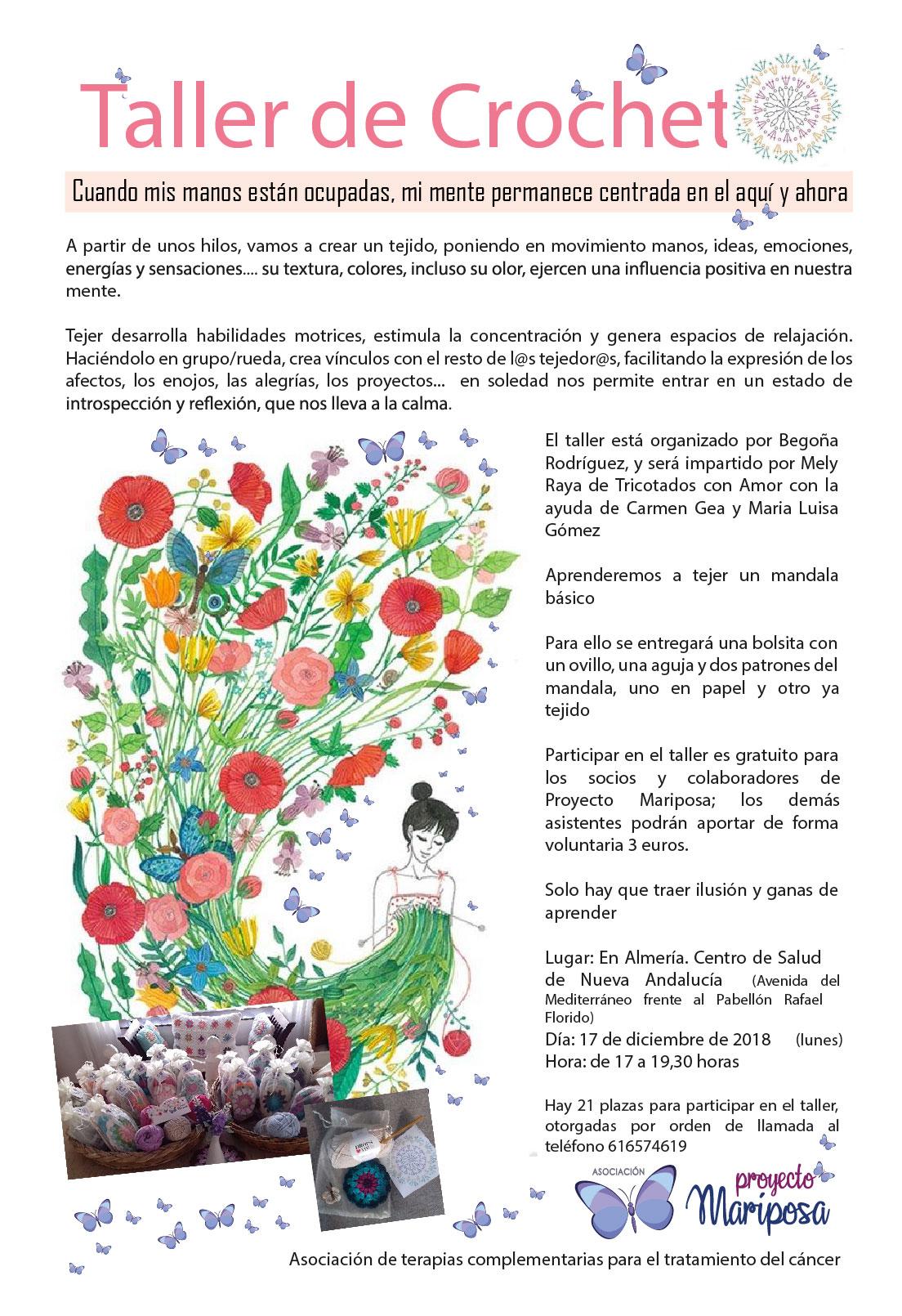 Taller de crochet. Almería – Proyecto Mariposa
